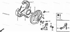 Honda Motorcycle 1984 Oem Parts Diagram For Front Brake