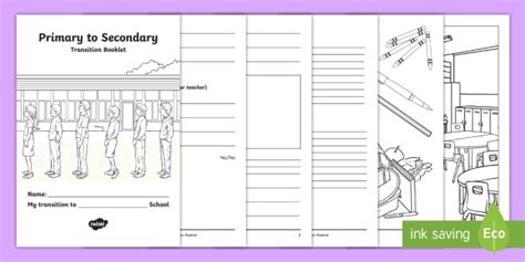* New * My Transition To Secondary School Asn Worksheet Inclusion