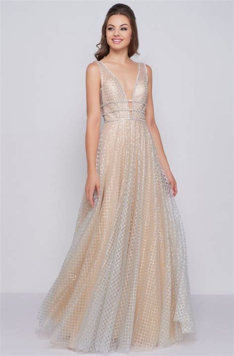 Shop women's mac duggal pink size 12 wedding at a discounted price at poshmark. Mac Duggal - 77402M Deep V-neck Shimmering Ballgown in ...