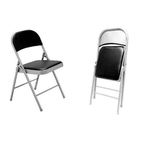 oscar black silver padded fold up chair