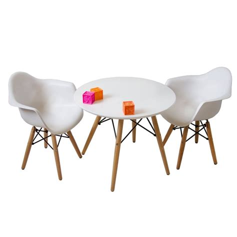 mid century eames style modern table with