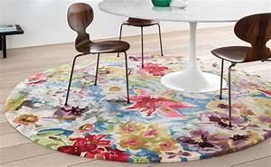 Teppich Rund 120 Cm Durchmesser : teppich magic flower rund durchmesser 230 cm ars mundi ~ Bigdaddyawards.com Haus und Dekorationen