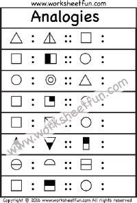 analogies worksheets  printable worksheets