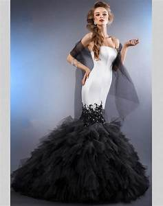 2015 sexy black and white mermaid wedding dresses china With sexy black wedding dress