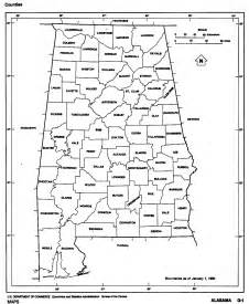 Alabama Map with Counties Outline