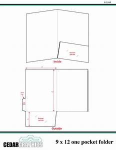 9x12 presentation folder template illustrator templates With pocket folder template illustrator