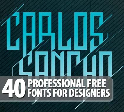 graphic design fonts 40 professional free fonts for graphic designers fonts