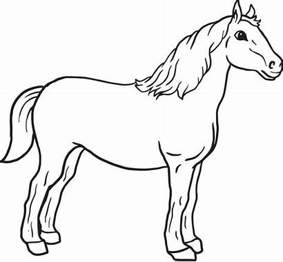 Coloring Horse Pages Simple Printable Pretty Head
