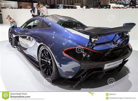 mclaren p1 in hybrid sports car editorial 68620912