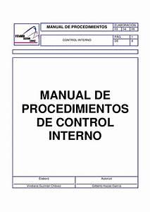 Manual De Procedimientos De Control Interno Viridiana