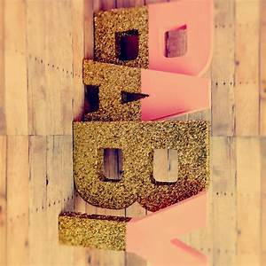 glitter xl letters 16 pink and gold self standing large With giant letters for baby shower