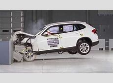 2013 BMW X1 CRASH TEST IIHS Moderate Overlap Test YouTube