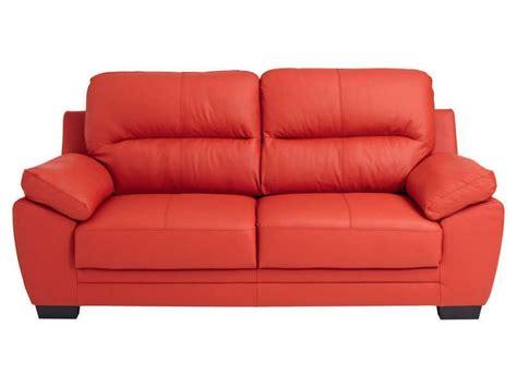 canapé cuir 2 places conforama canapé fixe 3 places en cuir 2 coloris