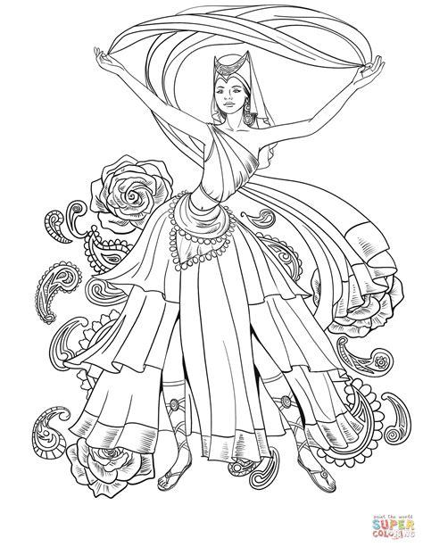 scheherazade dance coloring page  printable coloring