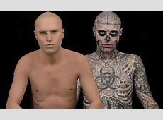Lady Gaga's Zombie Boy Ricky Genest with NO tattoos Model