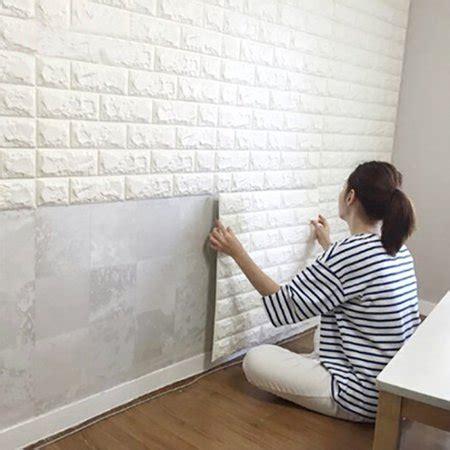 artd  sqft peel  stick  wall panels white brick