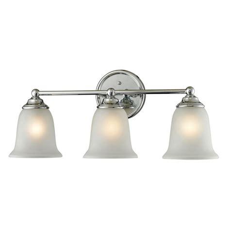 titan lighting sudbury 3 light chrome wall mount bath bar