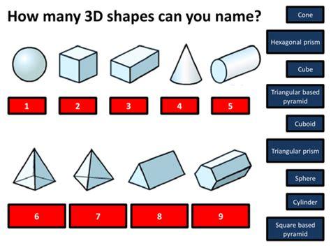 name 3d shapes powerpoint ks2 ks3 by bodmans