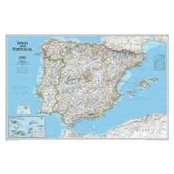 Geographic Map Spain and Portugal