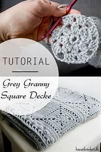Granny Square Decke Häkeln : tutorial grey granny square decke ~ Orissabook.com Haus und Dekorationen