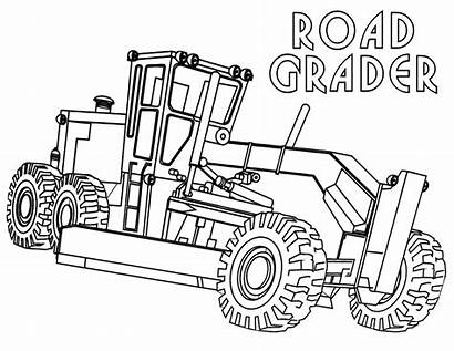 Construction Coloring Pages Machinery