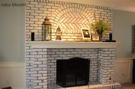 paint brick fireplace ruby bloom painted brick fireplace