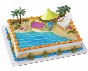Beach Chair & Umbrella Cake - Cakes com