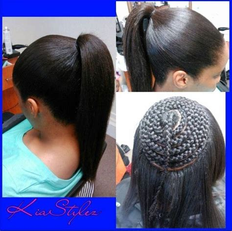 Sew In Ponytail Hairstyles pin by black hair information coils media ltd on weaves
