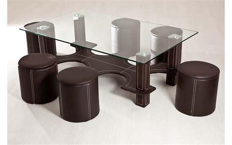 table basse 6 pouf table basse 6 poufs marron top d 233 co