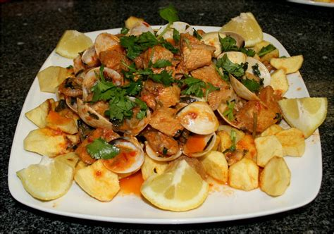 recette de carne de porco  alentejana viande de porc