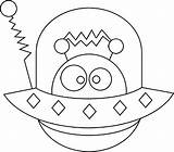 Spaceship Coloring Alien Space Pages Aliens Hide Sheets Planet Netart Colouring Monster Mandala Outer Crafts Books Theme sketch template