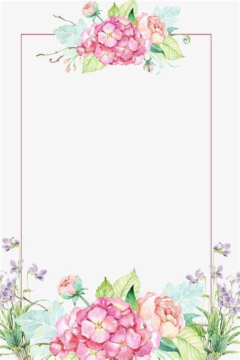 floral rectangle border flower painting flower border