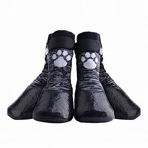 dog socks anti slip with velcro straps traction control With dog grip socks