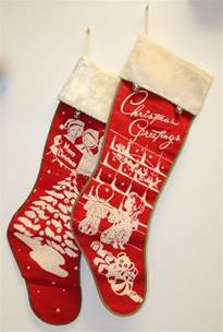 Vintage Christmas stockings, date unknown.
