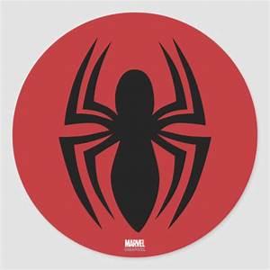 Spider-Man Spider Logo Classic Round Sticker | Zazzle.com