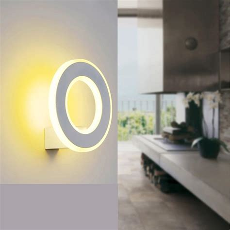 makeup led round indoor wall l post modern ring wall