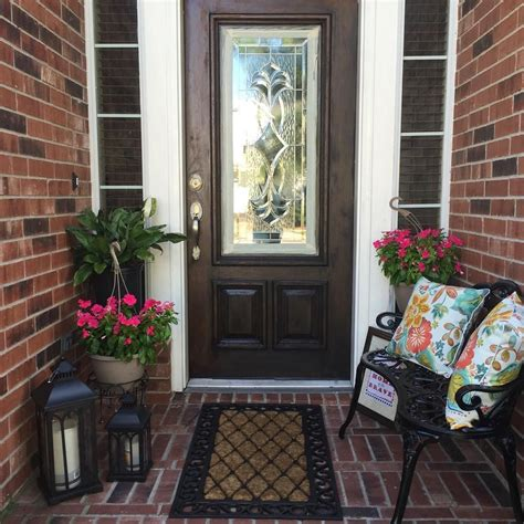 spring outdoor decorating small front porch small