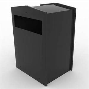 front view of slim collection box With through wall letter chute