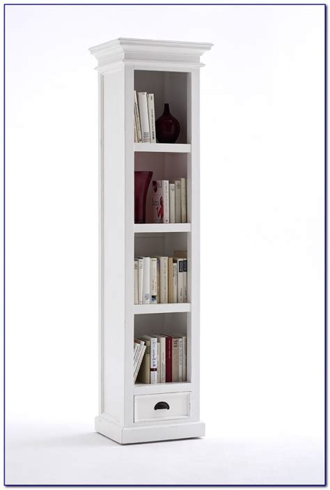 Thin Bookcase by Narrow Bookcase Antique White Bookcase Home Design