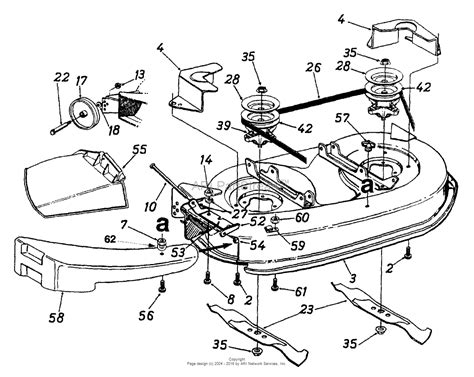 mtd asg  parts diagram  deck assembly