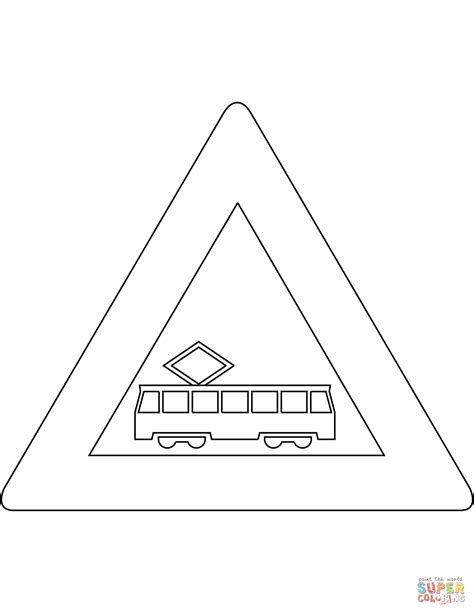 Tram Kleurplaat by Quot Tram Crossing Quot Sign In The Netherlands Coloring Page