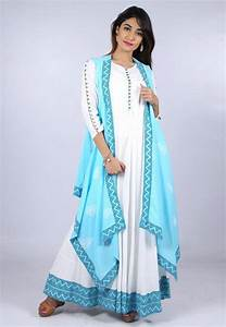 What Is My Size Chart Block Printed Border Cotton Long Dress With Jacket In