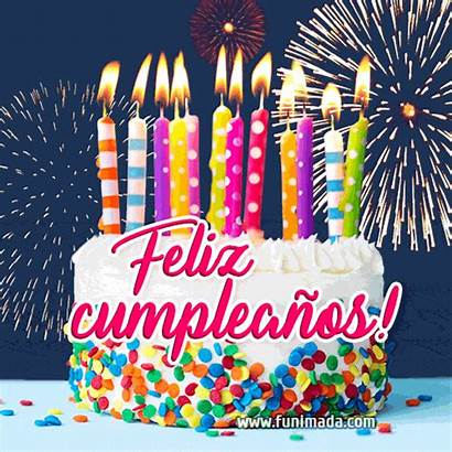 Birthday Happy Cake Spanish Gifs European Languages
