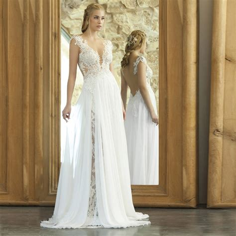 Vestido De Noiva Vintage Bohemian Lace Wedding Dress 2017