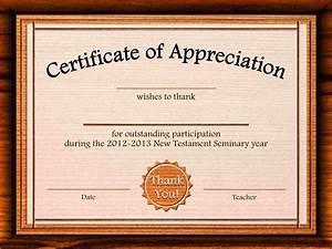 8 certificate of appreciation template academic resume for Free certificate of appreciation template downloads