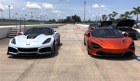 Corvette Zr1 Vs by Corvette Zr1 Vs Mclaren 720s Is What Everyone Is