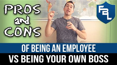 Pros & Cons Of Being An Employee Vs Being Your Own Boss