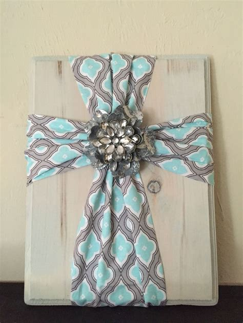 fabric cross  wood super simple  easy