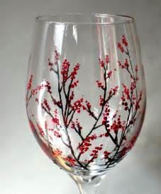 Winter Wine Glass Painting