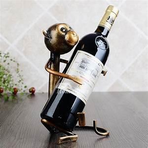 Small, Wine, Holder, Decorative, Monkey, Designer, Metal, Iron, Free, Stand